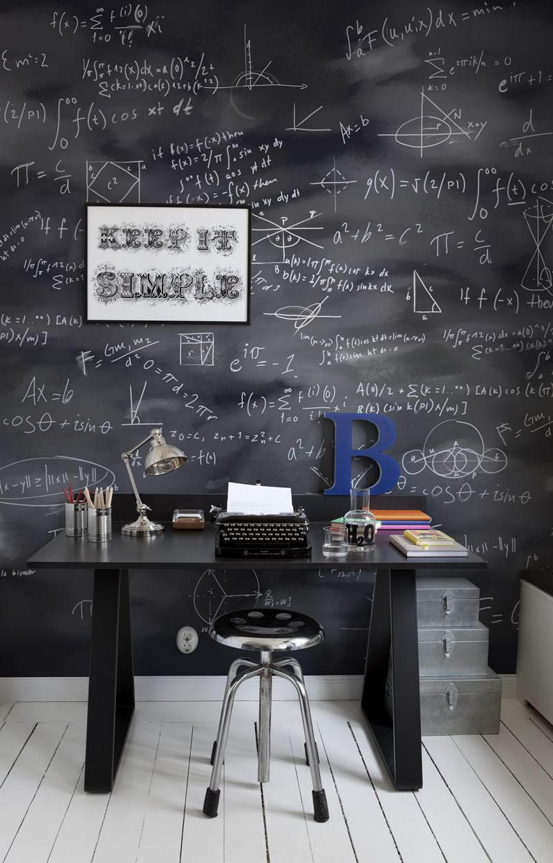 Mr Perswall Black Board  Mural - Product code: P130101-8