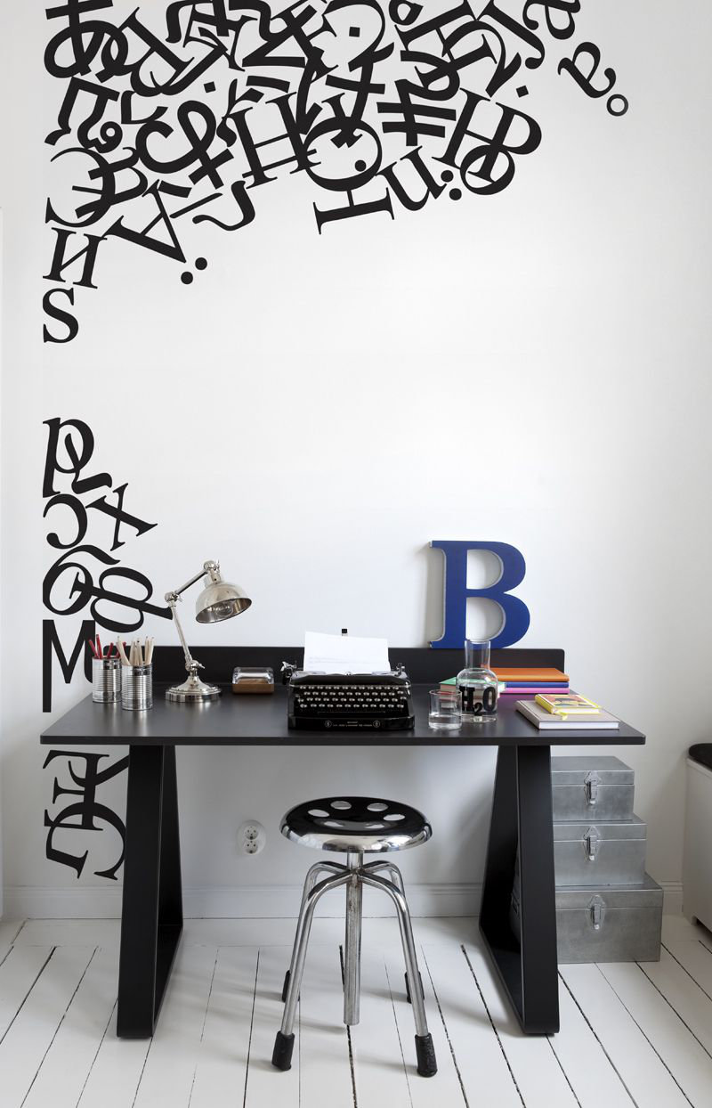 Mr Perswall Alphabetting  Mural - Product code: P130401-W