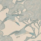 Mulberry Home Flying Ducks Aqua / Cream Wallpaper