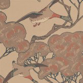 Mulberry Home Flying Ducks Pale Brown / Stone Wallpaper