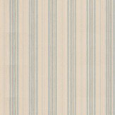 Mulberry Home Narrow Ticking Stripe Powder Blue Wallpaper