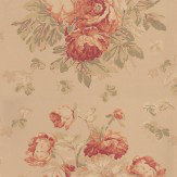 Mulberry Home Garden Peony Antique / Sand Wallpaper