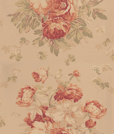 Mulberry Home Garden Peony Antique Sand Wallpaper Main Image