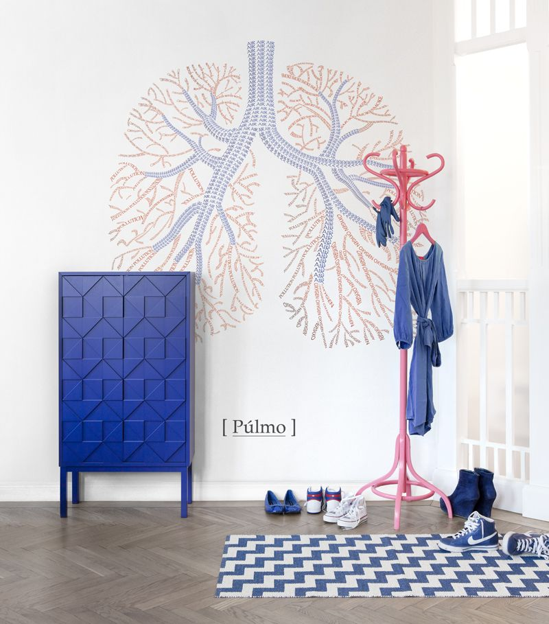 Mr Perswall Organs Mural - Lungs - Product code: P132605-W