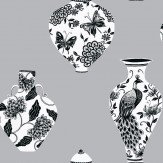 Opus Muras 44 Bedford Square Black / White / Silver Wallpaper