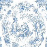 Opus Muras Arcadia Blue / White Wallpaper