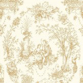Opus Muras Arcadia Gold / Off White Wallpaper