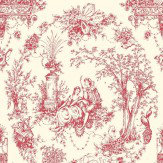 Opus Muras Arcadia Red / Off White Wallpaper