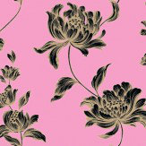 Opus Muras Vanessa Bubblegum Pink / Gold / Black Wallpaper