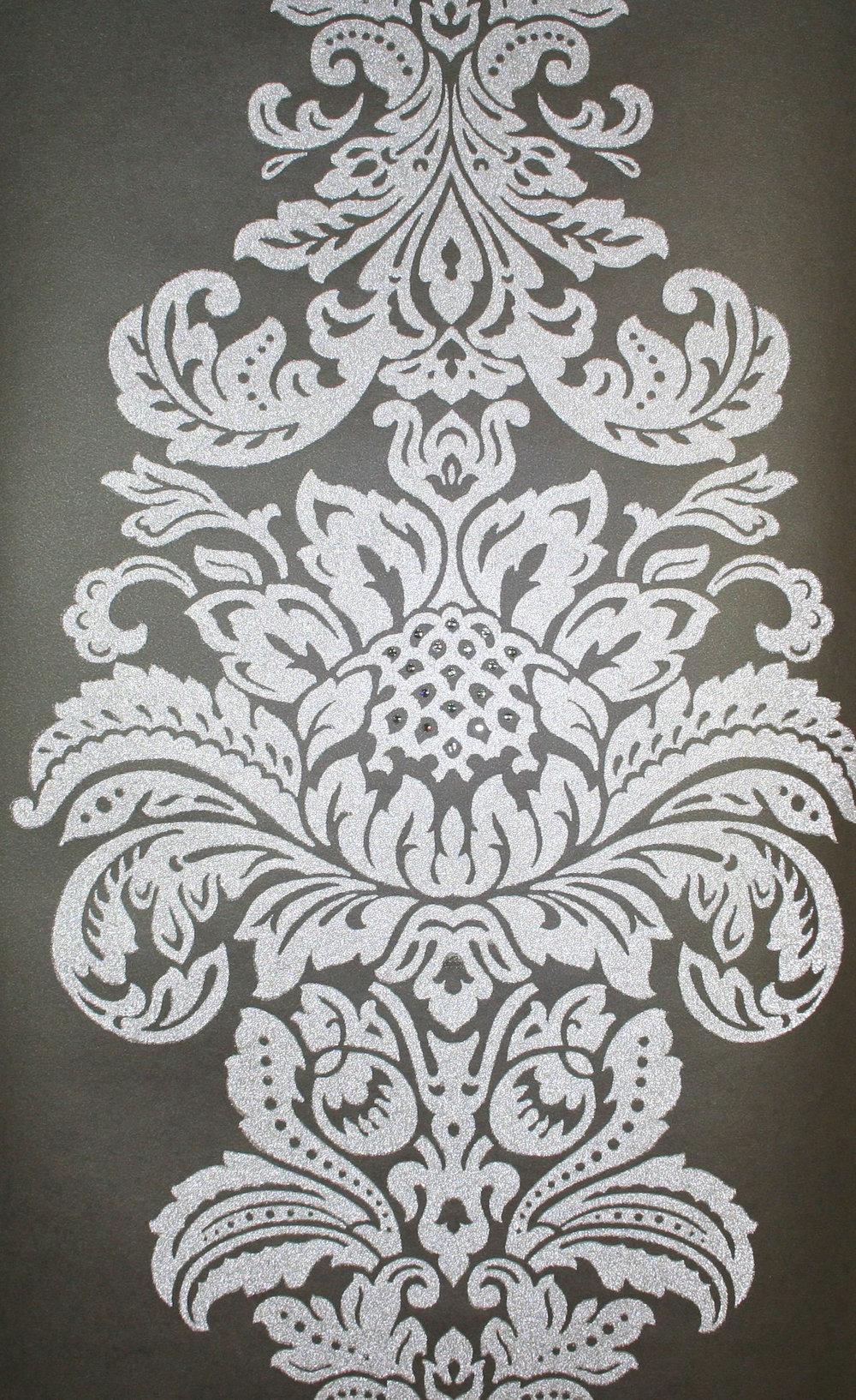 Beaded wallpaper