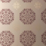 Kandola Moonstone Wallpaper crystallised Purple / Gold / Beige