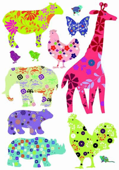 Image of Creative Wall Art Stickers Animal Sticker, 160911