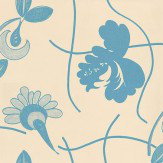 Belynda Sharples Gridflower Blue / Off White Wallpaper - Product code: AOW-GRI-02