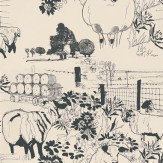 Belynda Sharples Sheep Black / Off White Wallpaper - Product code: AOW-SHE-01
