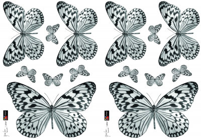 Image of Creative Wall Art Stickers Black and White Butterfly Sticker, 157049