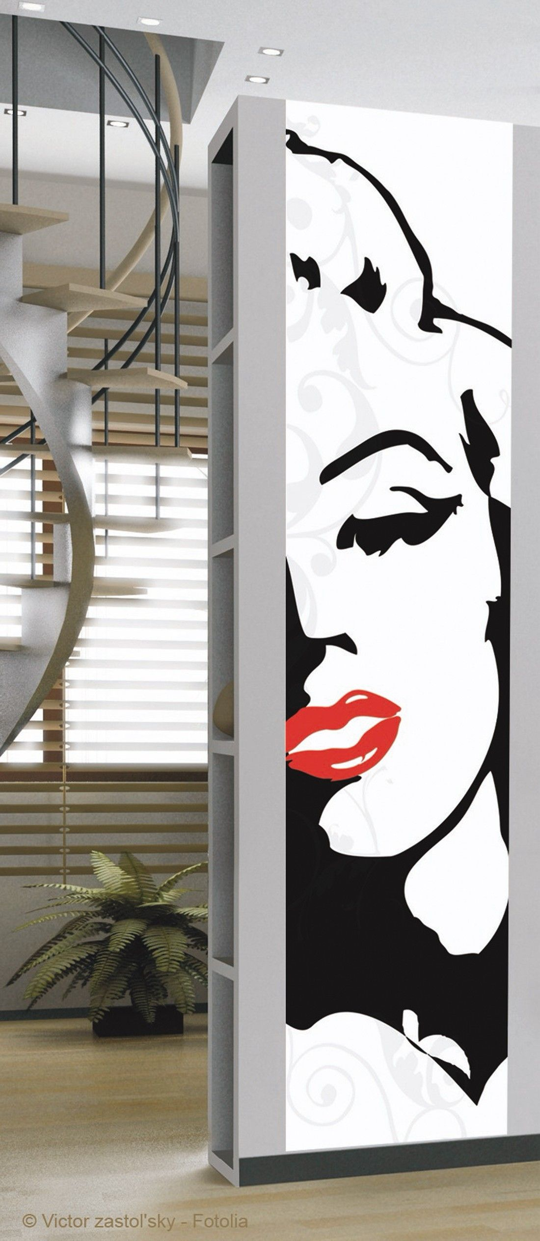 Marilyn sticker in creative wall art wallpaper direct for Plage stickers uk