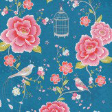 Pip Wallpaper Pip Studio Blue / Pink Wallpaper