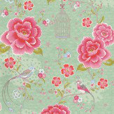 Pip Wallpaper Pip Studio Green / Pink Wallpaper