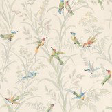 Thibaut Augustine White / Multi Wallpaper