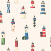 Thibaut Lighthouse White / Multi Wallpaper