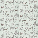 Thibaut Best in Show Brown / Duck Egg Wallpaper