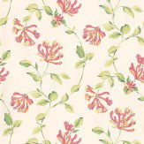 Thibaut Honeysuckle Coral / Green Wallpaper