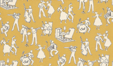 Image of Lewis & Wood Wallpapers Go Cat Go - Pernod, LW155246