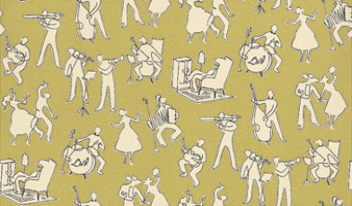 Lewis & Wood Wallpapers Go Cat Go  Absinthe LW155248