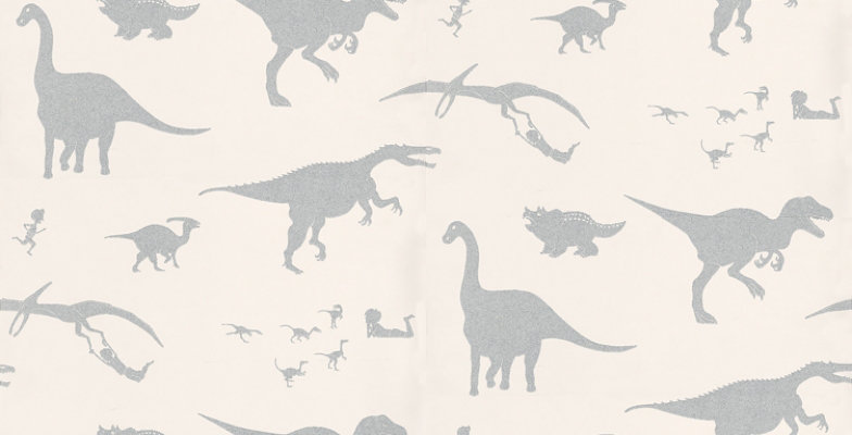 Image of PaperBoy Wallpapers D'ya-think-e-saurus White, DTES White