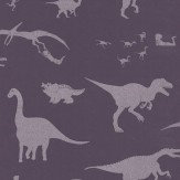 PaperBoy D'ya-think-e-saurus Purple Purple / Silver Wallpaper