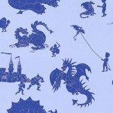 PaperBoy Ere-be-dragons Blue Wallpaper - Product code: EBD Blue