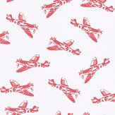 PaperBoy Spitfires White White / Red Wallpaper