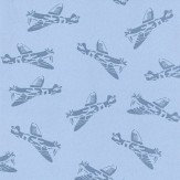 PaperBoy Spitfires Blue Wallpaper