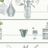 Louise Body Shelf Cream Green / Grey / Cream Wallpaper