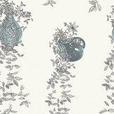 Louise Body Traily Plant Grey Grey / Blue / Cream Wallpaper