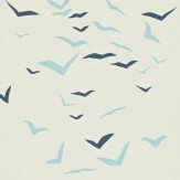 Scion Flight Blue / Off White Wallpaper - Product code: 110211