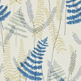 Scion Athyrium Blue / Beige Wallpaper