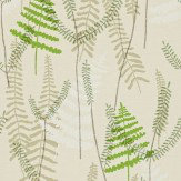 Scion Athyrium Green / Beige Wallpaper