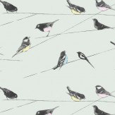 Louise Body Garden Birds Blue Wallpaper