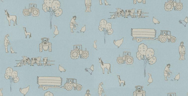 Image of Katie Bourne Interiors Wallpapers Cluck a Doodle Farm , 2B Cluck