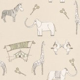 Katie Bourne Interiors Merry Go Circus Cream / Green Wallpaper - Product code: 1H Merry