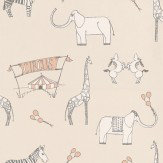 Katie Bourne Interiors Merry Go Circus Cream / Pink Wallpaper