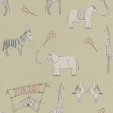 Katie Bourne Interiors Merry Go Circus Green / Pink Wallpaper - Product code: 4L Merry