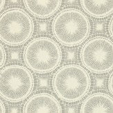 Scion Tree Circles Grey / Off White Wallpaper