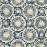 Scion Tree Circles Blue / Off White Wallpaper