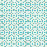 Scion Lace Aqua Wallpaper