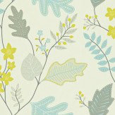 Harlequin Lacarno Blue / Green / Grey Wallpaper