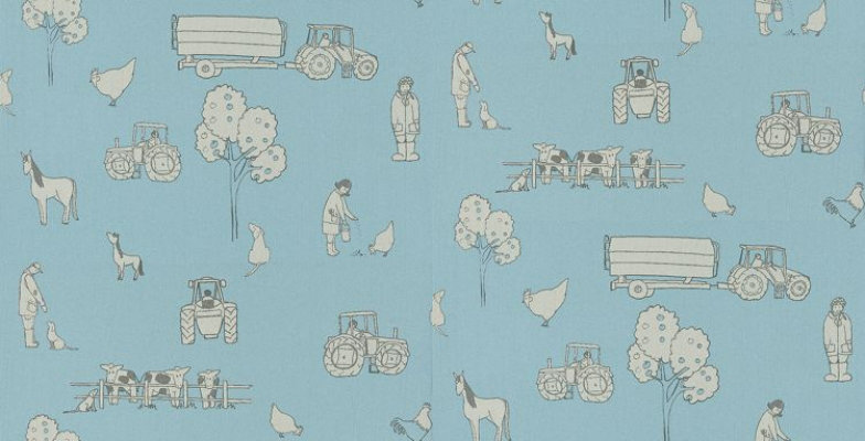 Image of Katie Bourne Interiors Wallpapers Cluck a Doodle Farm , 5G Cluck