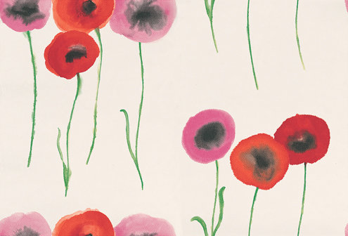 Sanderson Poppies Wallpaper main image