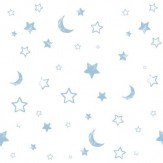 Kids @ Home Pooh Goodnight Blue Wallpaper